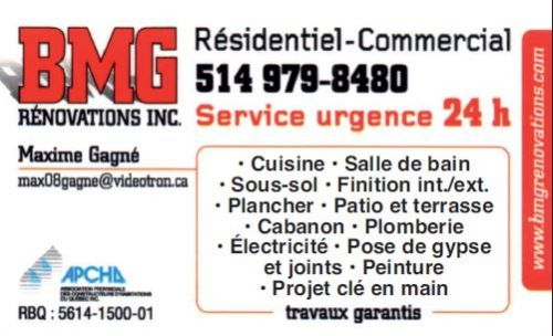 BMG Rénovations Inc. à Laval